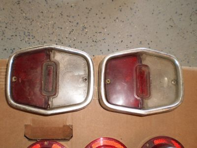 1962 1963 1964 62 63 64 NOVA CHEVY 2 II TAIL LIGHT LIGHTS SET PAIR HOUSINGS OEM