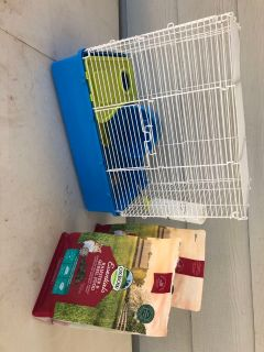 Hamster/Gerbil Cage, Water, Food