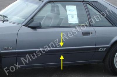 Sell 1985 & 1986 MUSTANG BODY SIDE DOOR MOLDING LEFT HAND motorcycle in Locust, NC USA, US, for US $79.99