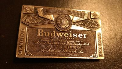 Retro Budweiser belt buckle