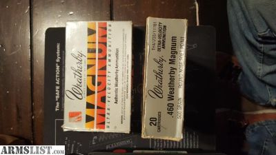 For Sale: 460 Weatherby magnum 500grain