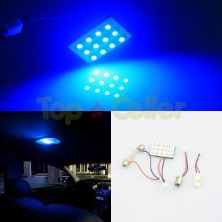 Purchase LED BLUE 2X DOME MAP INTERIOR LIGHT BULBS 12 SMD PANEL XENON HID LAMP motorcycle in Cupertino, CA, US, for US $5.85