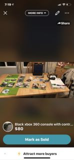 Xbox 360 with games and two controllers