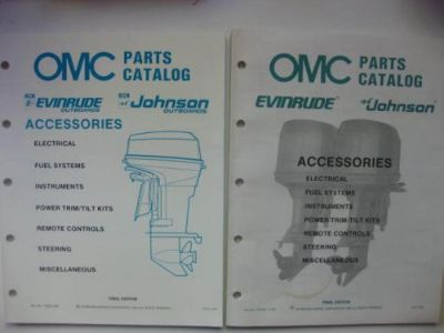 Purchase 1988 - 1989 OMC ACCESSORIES PARTS CATALOG JOHNSON-EVINRUDE OUTBOAR MOTORS. motorcycle in Walnut Creek, California, United States, for US $7.95