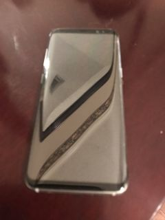 ***Samsung Galaxy S8 Silver Cell Phone + 5 Cases***AT&T