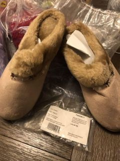 Suede slippers brand new size ladies 9/10