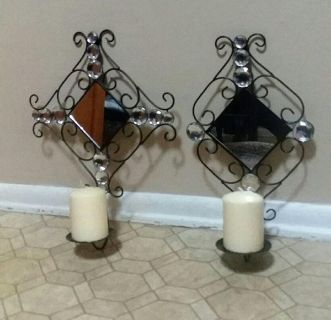 WROUGHT IRON/MIRROR/SCONCES.....EXCELLENT CONDITION