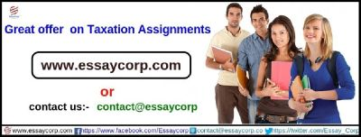 Acquire the best taxation assignment help