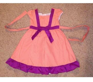 GIDGET LOVES MILO Coral & Purple Dress, Size 3T