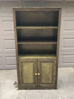 Painted Solid Wood Cabinet/ Bookcase