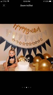 Baby First Birthday Smash Cake Outfit