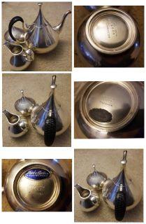 "Vintage 3 Piece John Prip for Reed & Barton ""Dimension"" tea set"
