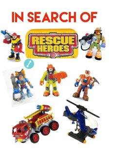 In Search Of Rescue Heroes Action Figures and Vehicles