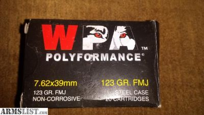 For Sale: 1000 rnds 7.62x39 wolf non corrosive