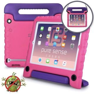 BUDDY KIDS CASE FOR APPLE IPAD AIR 1 & 2 (Pink/Purple)