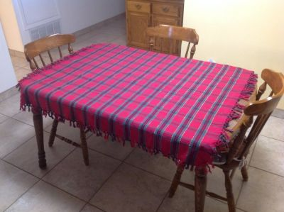 Large Cotton Blend Table Cloth