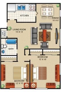Amazing 2 bedroom, 1 bath for rent