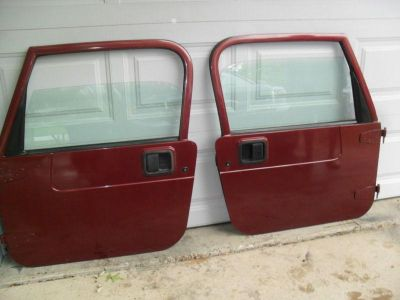 Find JEEP WRANGLER TJ FULL DOORS BURGUNDY & Other COLORS 1997-2006 NR motorcycle in Rockford, Illinois, US, for US $795.00