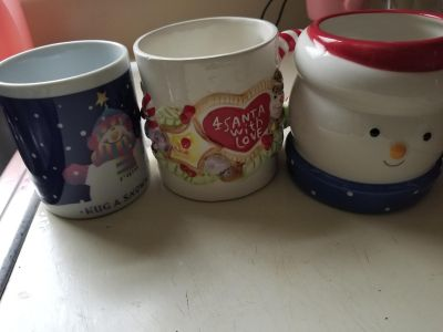 Christmas cups (3 for one dollar)