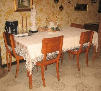 Vintage Retro Mid-Century Modern - Dining Room Table & 4 Chairs