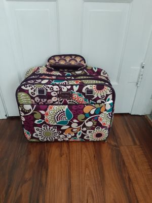 Vera Bradley Pull Along Carry On Luggage (see descrip)
