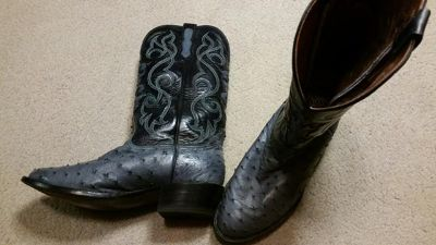 $350, Nocona Full Quill Ostrich