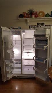 Whirpool side-by-side refrigerator