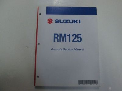 Sell 2006 Suzuki RM125 Owners Service Manual MINOR FADING 2ND EDITION FACTORY OEM motorcycle in Sterling Heights, Michigan, United States, for US $34.99