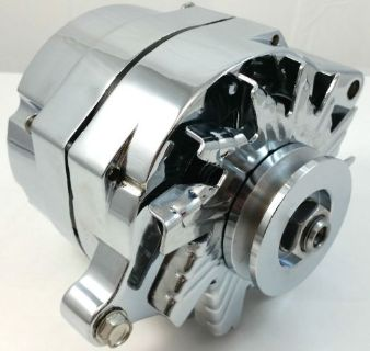 Sell New Chrome SB Ford 1G Style 110amp 1 Wire Alternator Mustang 289 302 351 V8 motorcycle in Chatsworth, California, United States, for US $99.95
