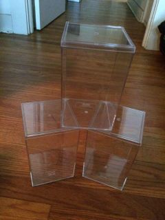 Three clear display boxes (bear sold separate)