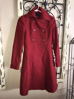 GORGEOUS red pea coat!! Size 0