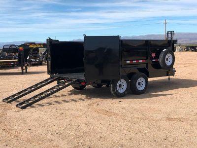 7x14 Low Pro High Side Dump, Excavator Hauler, PJ Dump Trailer DM142-4