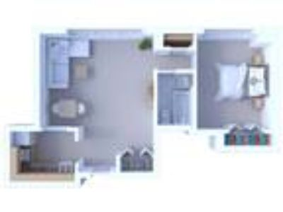 Oglesby Towers Apartments - One BR Floor Plan A1
