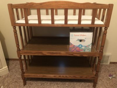 Solid wood changing table EUC