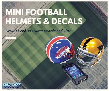 Mini Football Helmet Decals