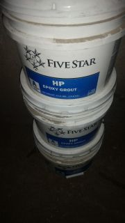 Fivestar HP epoxy grout