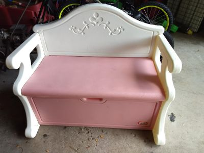 Little Tikes vintage victorian toy box and bench
