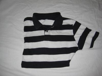 Polo Shirt - Junior Boys Size XL - 14/16- sleeve has another stripe not shown in picture