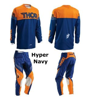 Purchase THOR PHASE HYPERION ADULT GEAR PANTS AND JERSEY NAVY/ORANGE (SELECT SIZES) motorcycle in Redford, Michigan, United States, for US $132.90