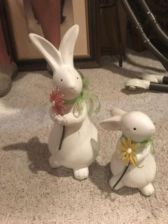 Bunnies, Large one is 14 inches tall