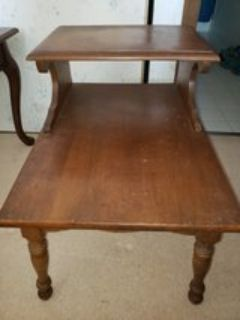 Vintage 2 Tier Wooden End Table