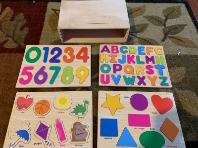Wood Puzzles with Storage Box