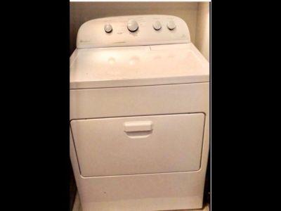 White Whirlpool High efficiency steam sensor dryer- 1 1/2 yrs old, $250.00 works great!