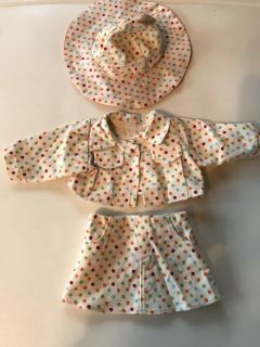 Cute 18 Doll Clothes. Skirt, Jacket, & Hat.