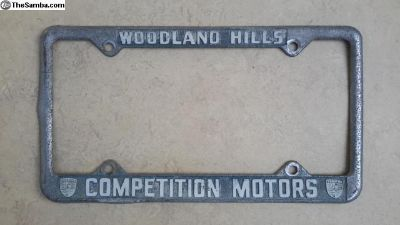 [WTB] Competition Motors License Plate frame