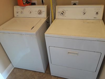 Kenmore large load matching set washer and dryer