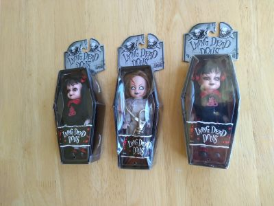 New in box Living Dead Doll keychains