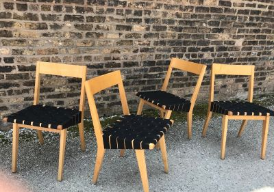 Risom Side Chairs by Jens Risom, for Knoll