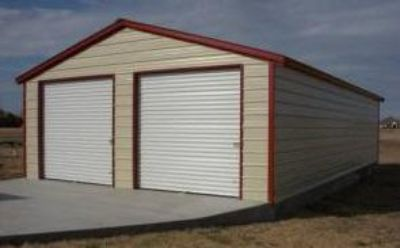 $5,560, 2 vehicle steel garage...installed