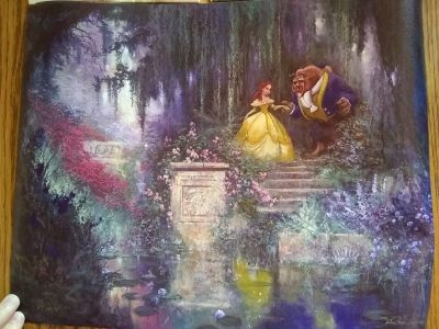 Beauty and the Beast canvas picture